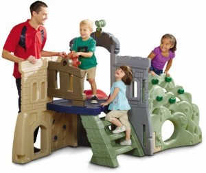 Little Tikes Endless Adventures Rock Climber and Slide for kids - back view