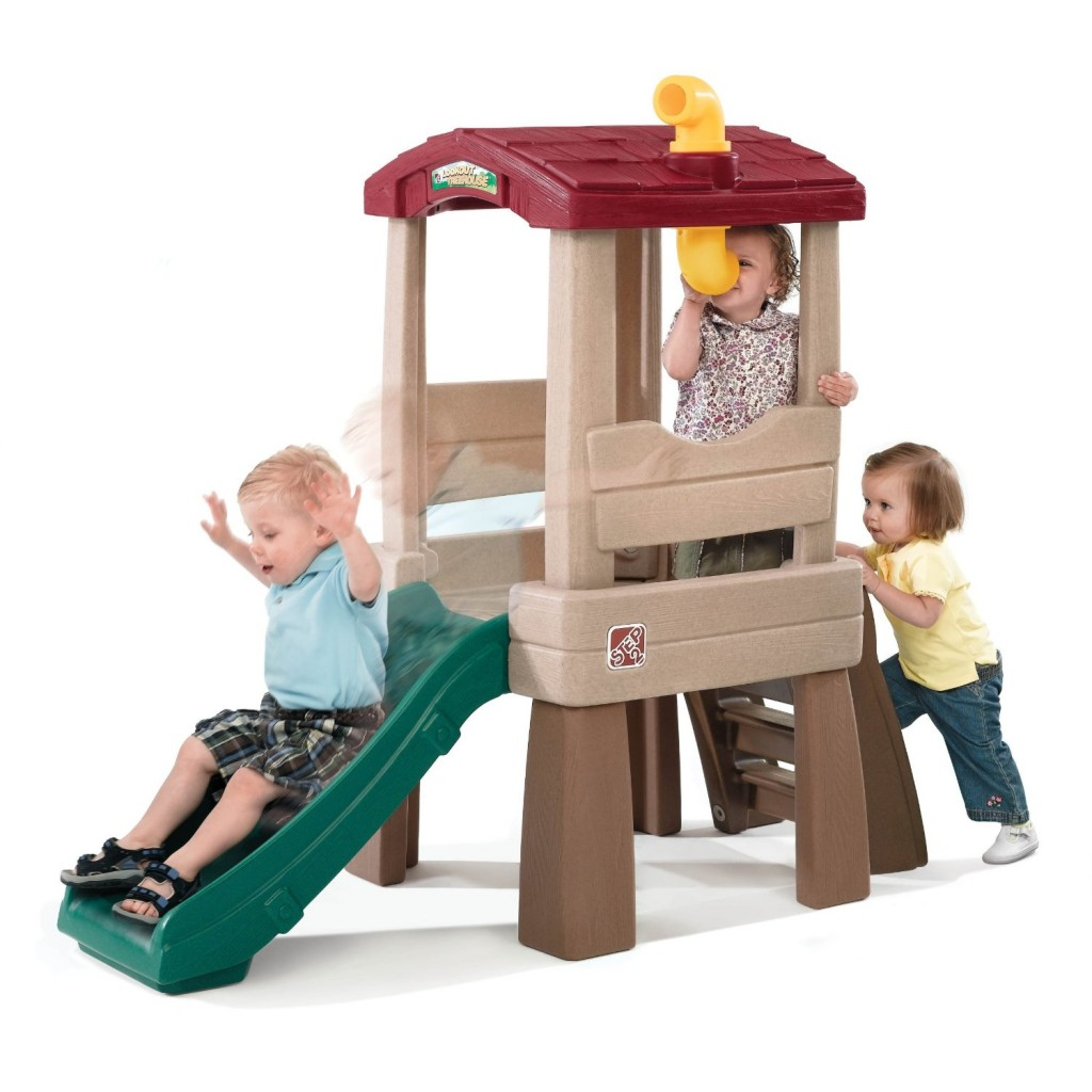 The Step2 Lookout Treehouse Climber Playset is a sturdy product designed so young children can enjoy backyard playtime that can also develop small and large motor skills. This climber playset is slightly elevated with steps that are large and easy enough for young children to climb/5().